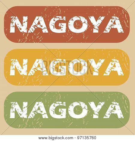 Vintage Nagoya stamp set
