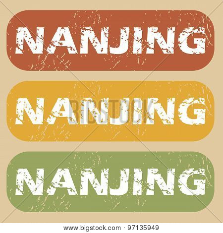 Vintage Nanjing stamp set