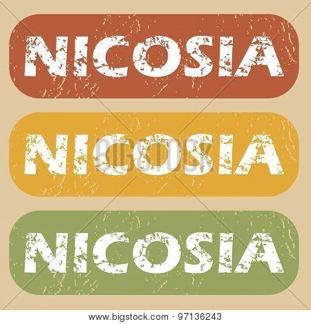 Vintage Nicosia stamp set