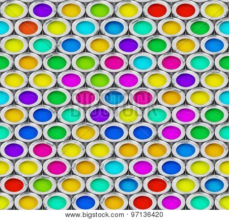 Seamless abstract background with color ink banks.