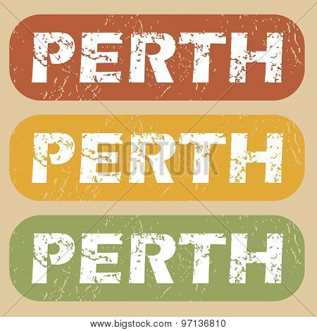Vintage Perth stamp set