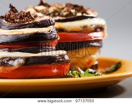 Eggplant With Mozarella And Tomatoes