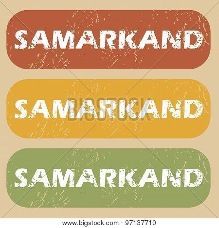 Vintage Samarkand stamp set