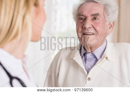 Senior Man Talking With Doctor