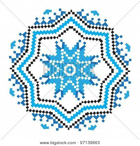Ethnic Ornament Mandala Pattern In Different Colors