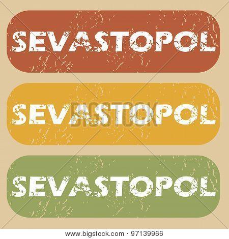Vintage Sevastopol stamp set