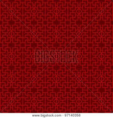 Seamless Chinese window tracery lattice geometry pattern background.