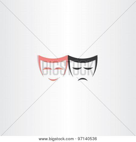 Theater Symbol Happy And Sad Masks Icon