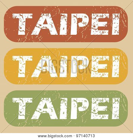 Vintage Taipei stamp set