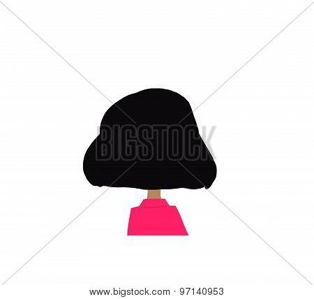 cartoon girl back head