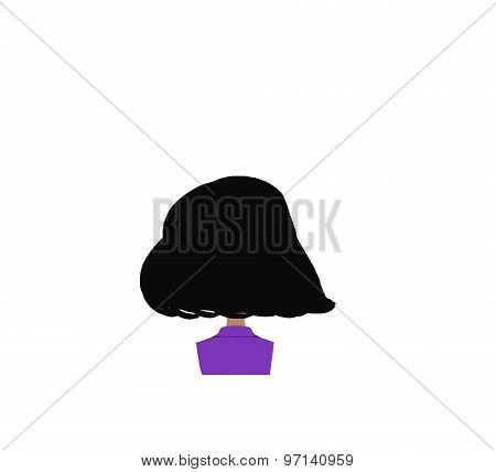 girl back head illustration