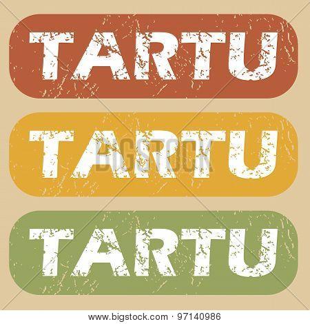 Vintage Tartu stamp set