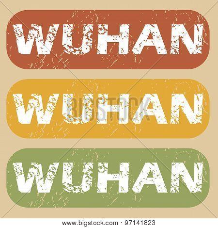Vintage Wuhan stamp set