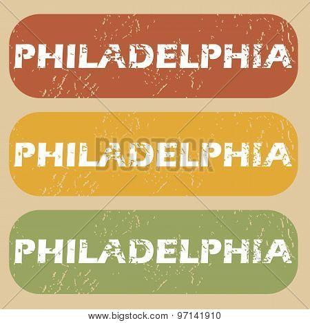 Vintage Philadelphia stamp set