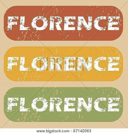 Vintage Florence stamp set