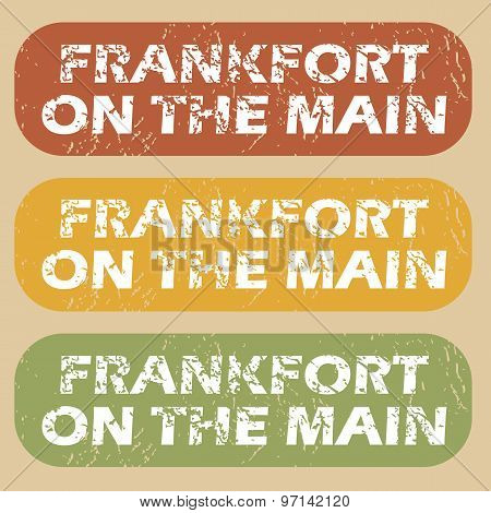Vintage Frankfort on Main stamps