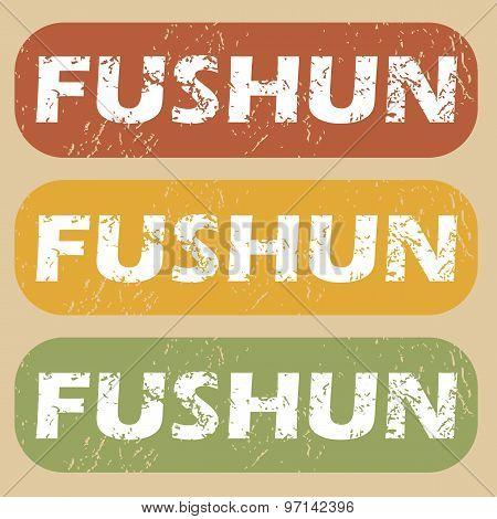 Vintage Fushun stamp set