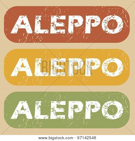 Vintage Aleppo stamp set