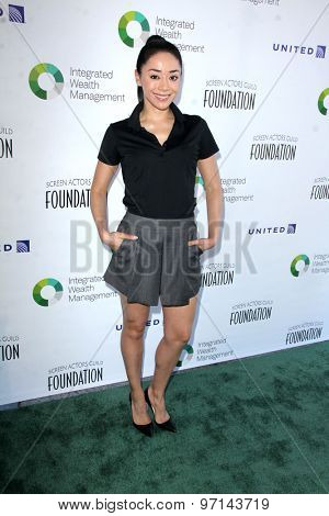 LOS ANGELES - JUN 8:  Aimee Garcia at the SAG Foundations 30TH Anniversary LA Golf Classi at the Lakeside Golf Club on June 8, 2015 in Toluca Lake, CA