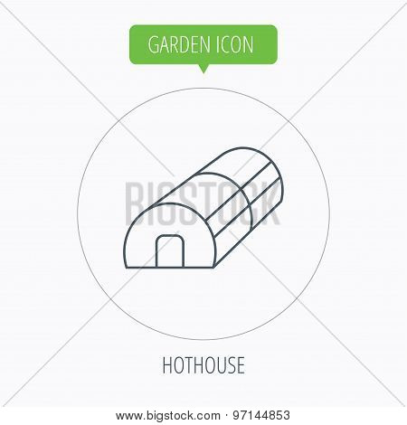 Greenhouse complex. Hothouse building. Vector