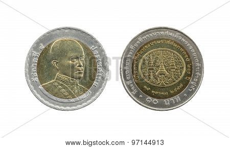 Ten Baht Thailand Coins Limited Edition.