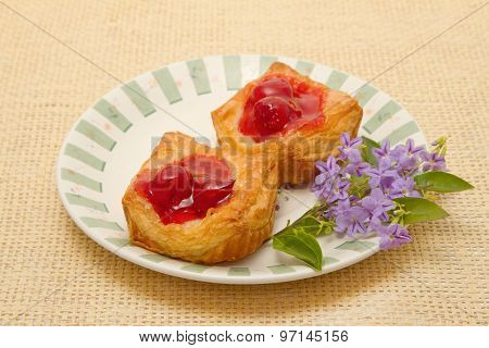 Cherry Danish Pastry