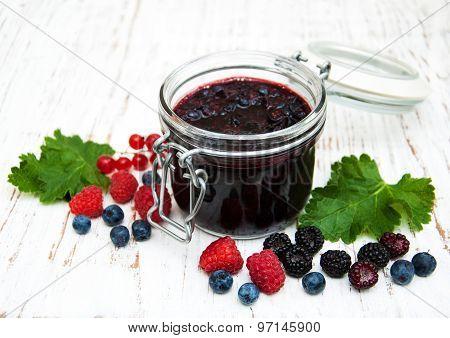 Jam And Fresh Berries