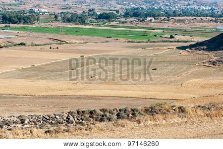 Countryside Agriculture Farmland  After Harvesting