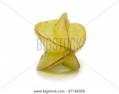 Starfruit On White