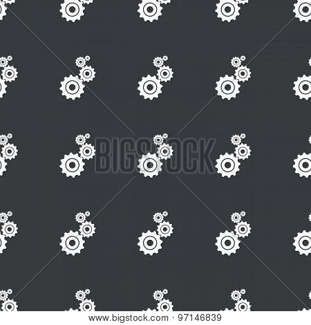 Straight black gears pattern