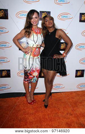 LOS ANGELES - JUN 6:  Karina Smirnoff, Toni Braxton at the Lupus LA Orange Ball  at the Fox Studios on June 6, 2015 in Century City, CA