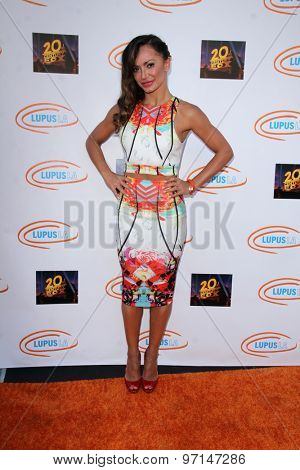 LOS ANGELES - JUN 6:  Karina Smirnoff at the Lupus LA Orange Ball  at the Fox Studios on June 6, 2015 in Century City, CA