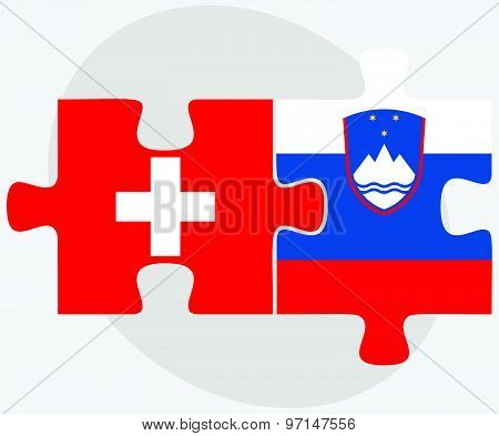 Switzerland And Slovenia Flags