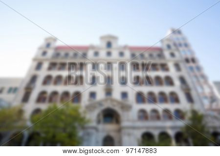 Large building in a city low angle view