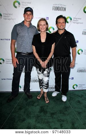 LOS ANGELES - JUN 8:  Brendan Fehr, JoBeth Williams, Scott Wolf at the SAG Foundations 30TH Anniversary LA Golf Classi at the Lakeside Golf Club on June 8, 2015 in Toluca Lake, CA
