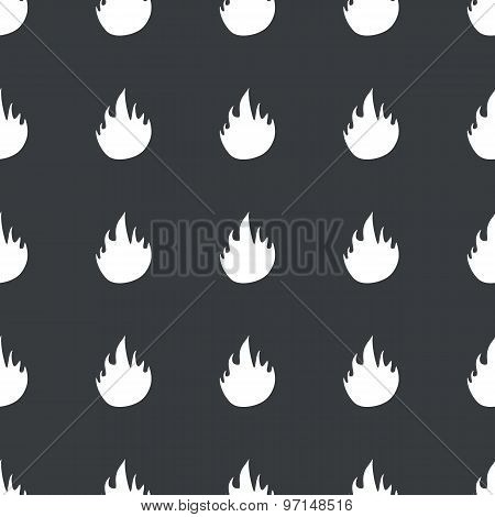 Straight black fire pattern