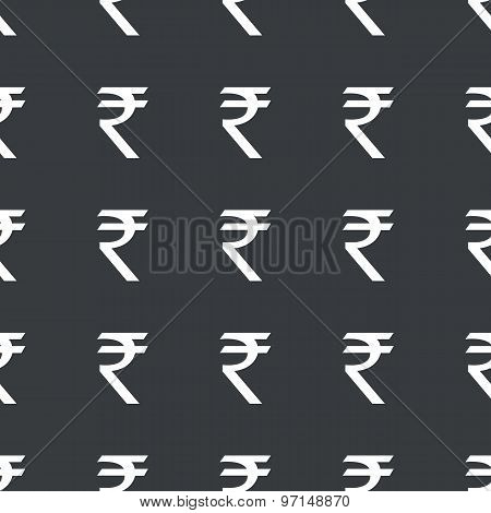 Straight black Indian rupee pattern