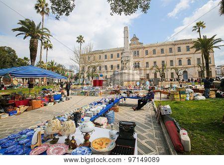 Flea Market In Martina Franca, Italy