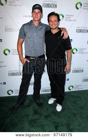 LOS ANGELES - JUN 8:  Brendan Fehr, Scott Wolf at the SAG Foundations 30TH Anniversary LA Golf Classi at the Lakeside Golf Club on June 8, 2015 in Toluca Lake, CA