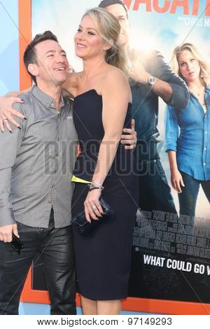 LOS ANGELES - JUL 27:  David Faustino, Christina Applegate at the