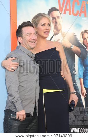 LOS ANGELES - JUL 27:  David Faustino, Christina Applegate at the