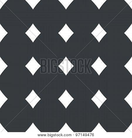 Straight black diamonds pattern