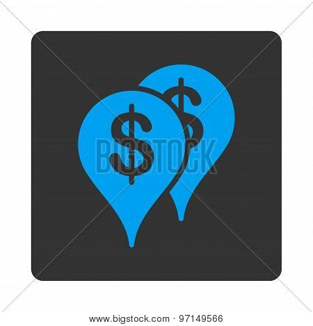 Bank locations icon
