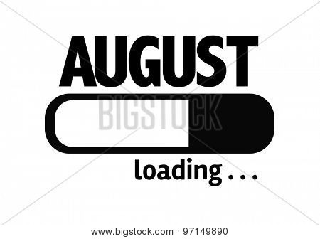 Progress Bar Loading with the text: August