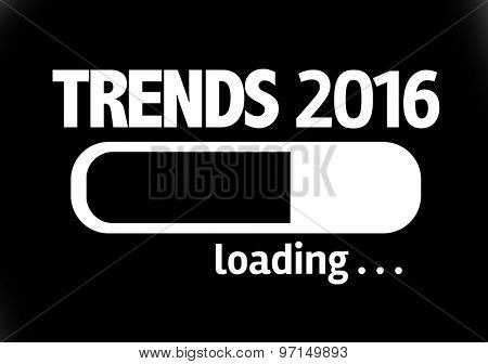 Progress Bar Loading with the text: Trends 2016