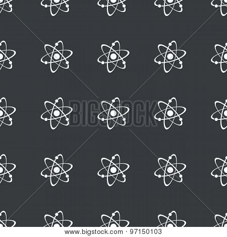 Straight black atom pattern