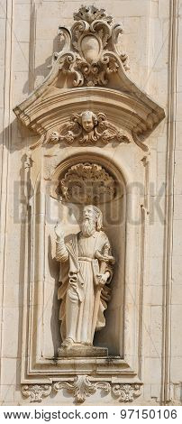 Statue Of Saint Paul In Martina Franca, Italy