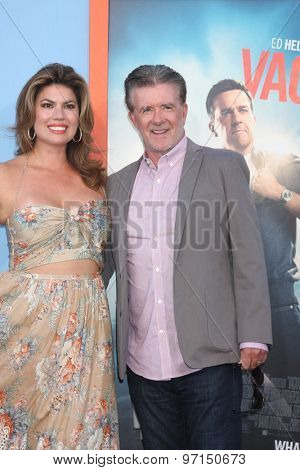 LOS ANGELES - JUL 27:  Tanya Callau, Alan Thicke at the