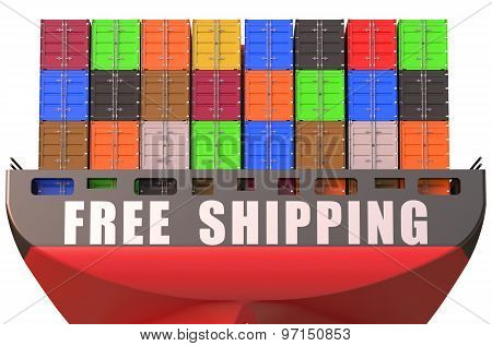 Container Ship, Free Shipping Concept