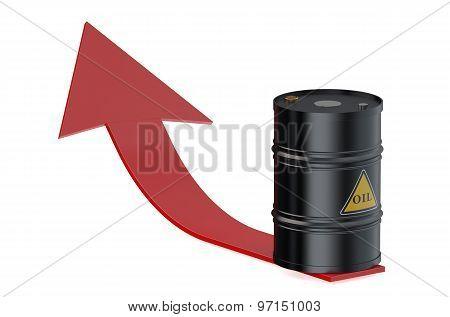 Oil Barrel With Arrow